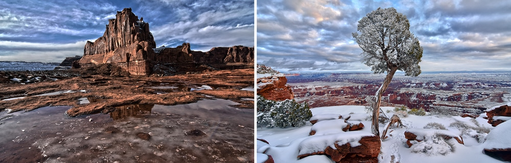 Arches and Canyonlands National Park in Winter