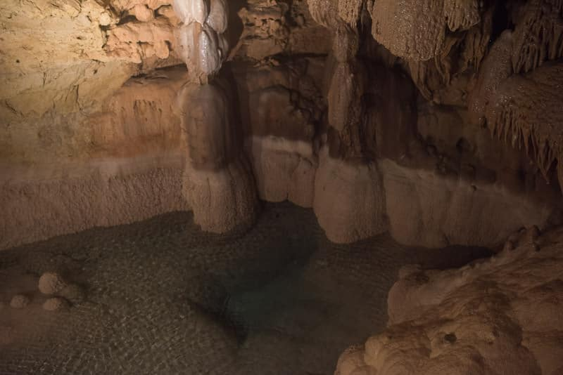 Some of the scenery in the natural bridge caverns Discovery Tour