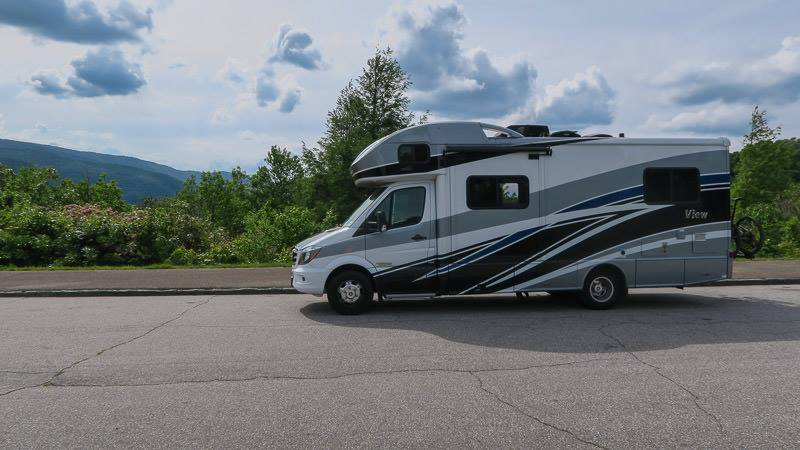 Our Winnebago View RV on the blue ridge parkway