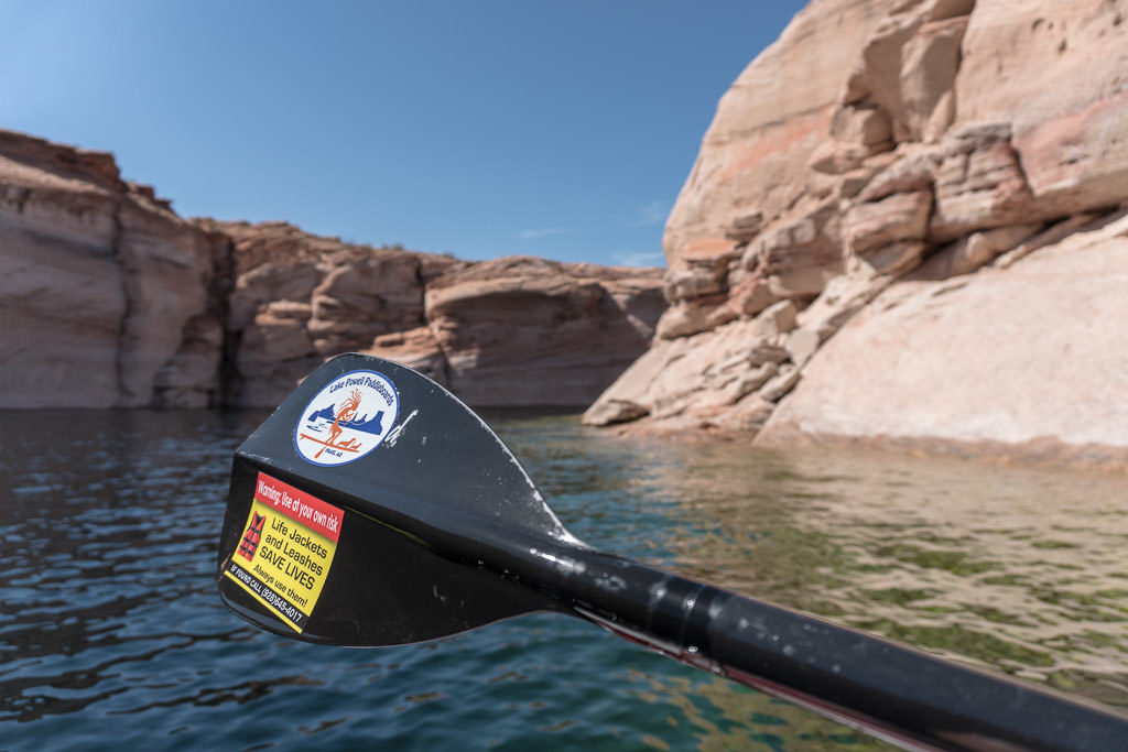 Paddle of a paddleboard on Lake Powell