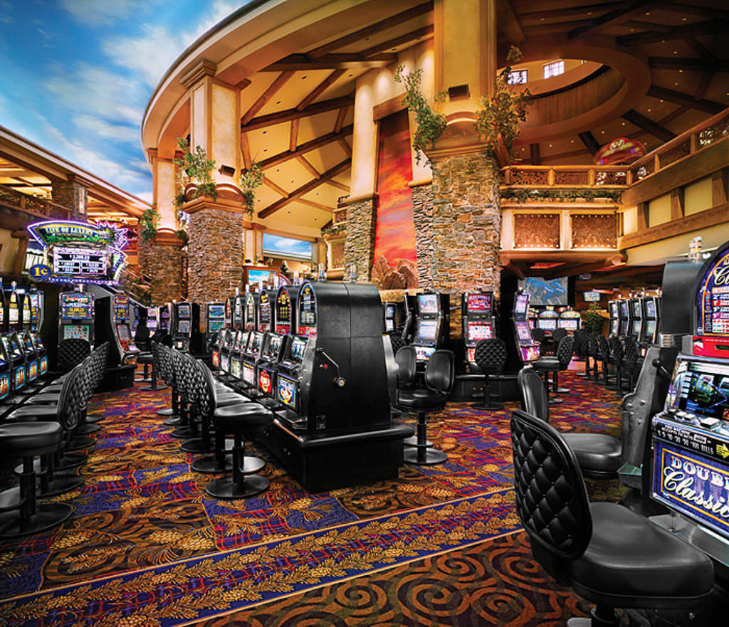 Gaming area with plenty of slot machines at the Ameristar Black Hawk