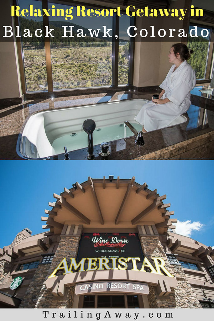 When we were looking for a place to stay near Denver, Ameristar Black Hawk stood out immediately. I mean, there was a jetted tub in the room AND on the roof! It was the perfect getaway in Black Hawk! Getting to do some gambling in the casino and enjoying the spa, were just added bonuses!#colorado #blackhawk #gambling #denver #weekendgetaway