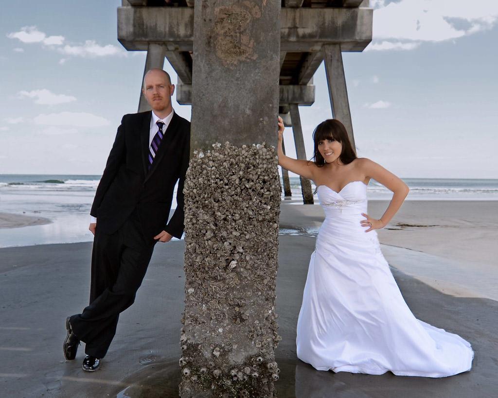 Florida beach wedding photo