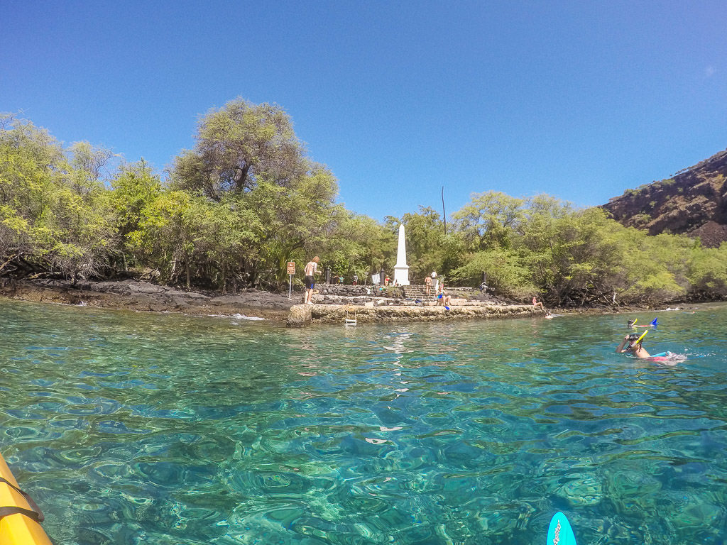 big island kayaking with wild dolphins and snorkeling kona captain cook monument