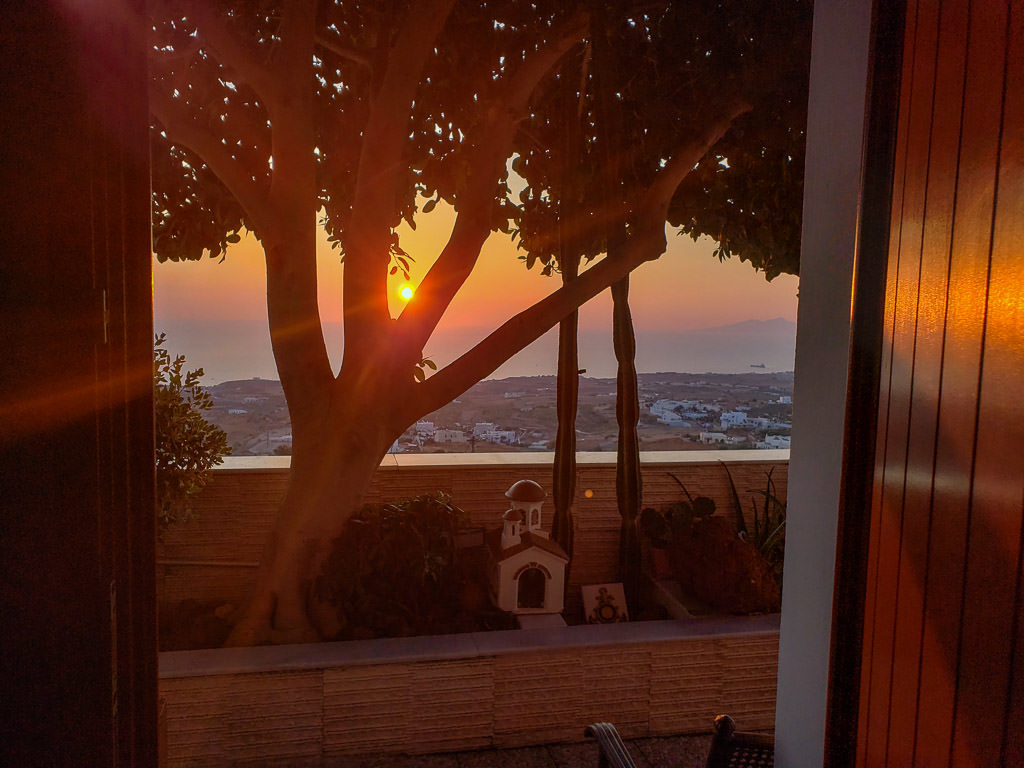 things to do in santorini - east side sunrise from airbnb