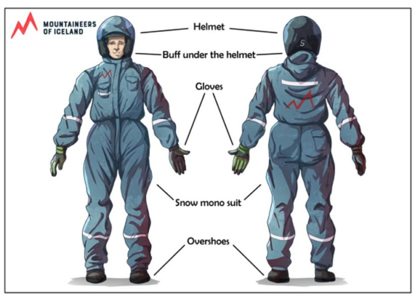 mountaineers of iceland snowmobile and ice cave tour gear