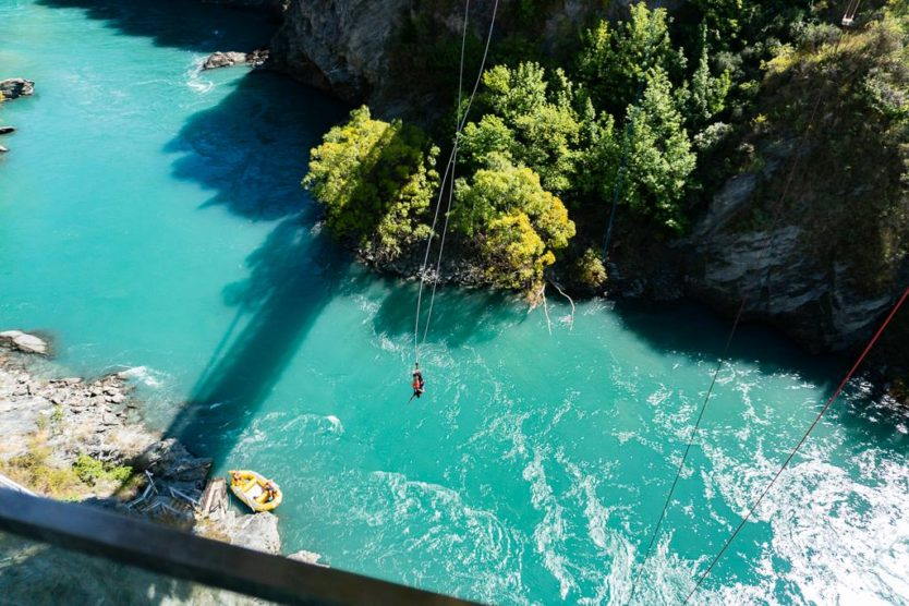 kawarau gorge bungy jump near queenstown